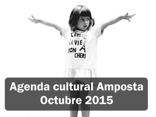 Agenda Cultural Amposta Octubre 2015