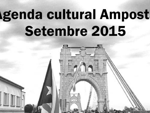 Agenda Cultural Amposta - Setembre 2015