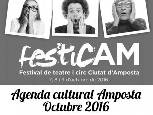 Agenda Cultural Amposta Octubre 2016