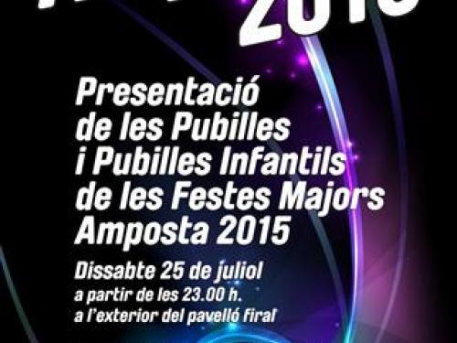 Presentació Pubilles Festes Majors Amposta 2015